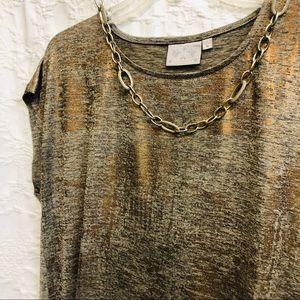 Dantelle Tops - Beautiful gold high-low blouse